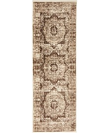 Bridgeport Home Linport Lin7 Brown 2' x 6' Runner Area Rug