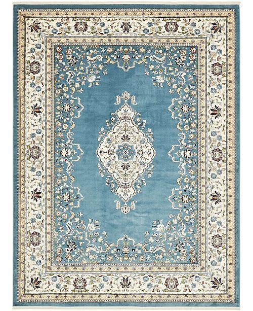 "Bridgeport Home Zara Zar1 Blue 13' x 19' 8"" Area Rug"