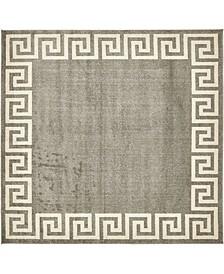 Anzu Anz2 Gray 8' x 8' Square Area Rug