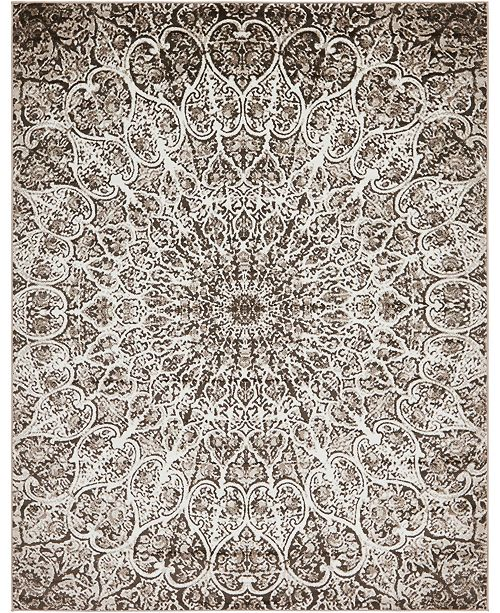Bridgeport Home Basha Bas4 Brown 9' x 12' Area Rug