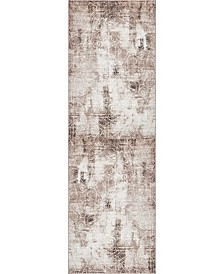 "Bridgeport Home Basha Bas6 Dark Beige 2' x 6' 7"" Runner Area Rug"