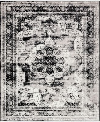 Basha Bas2 Black 8' x 8' Square Area Rug