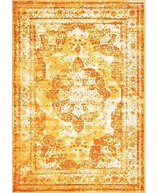 Bridgeport Home Basha Bas2 Orange 4' x 6' Area Rug