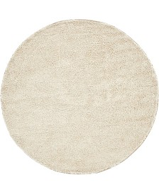 Bridgeport Home Uno Uno1 Ivory 6' x 6' Round Area Rug