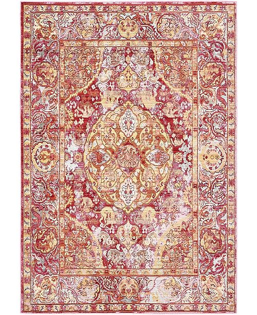 Bridgeport Home Malin Mal2 Red 4' x 6' Area Rug