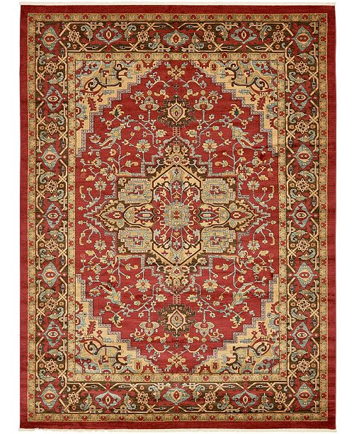 "Bridgeport Home Harik Har1 Red 12' 2"" x 16' Area Rug"