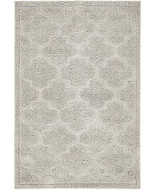 Bridgeport Home Filigree Shag Fil2 Gray 4' x 6' Area Rug