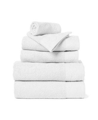 Coastal Shell 6-Piece 100% Cotton Bath Towel Set