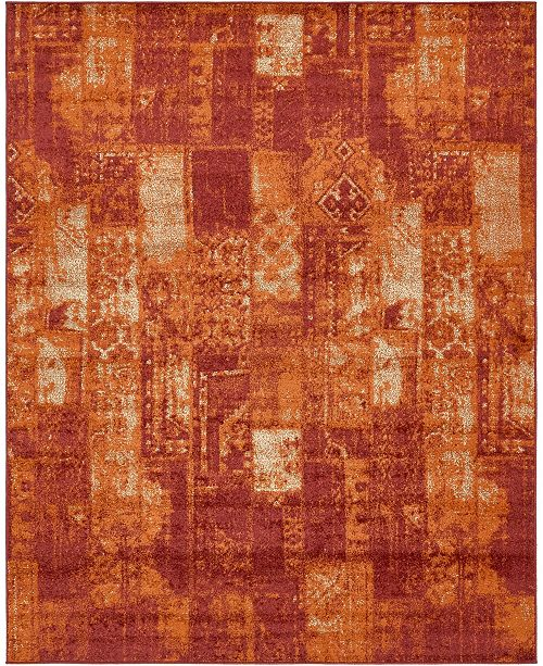 Bridgeport Home Jasia Jas07 Terracotta 8' x 10' Area Rug
