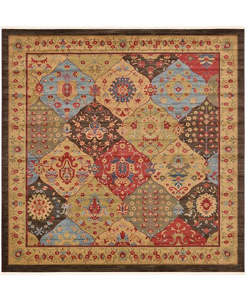 Bridgeport Home Orwyn Orw1 Multi 10' x 10' Square Area Rug