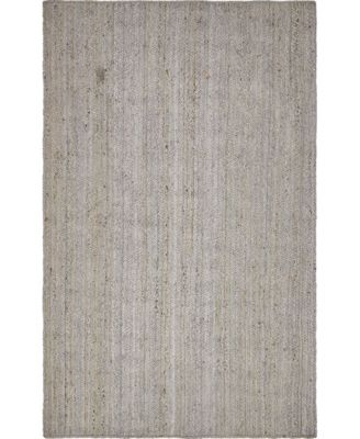 Braided Jute B Bjb5 Gray 5' x 8' Area Rug