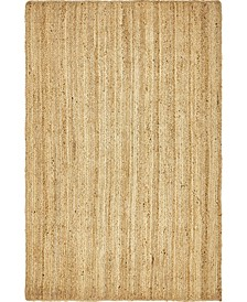 Braided Jute C Bjc5 Natural 5' x 8' Area Rug