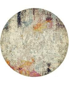 Crisanta Crs8 Beige 8' x 8' Round Area Rug