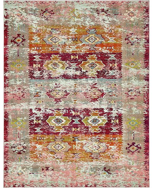Bridgeport Home Newhedge Nhg3 Pink 8' x 10' Area Rug