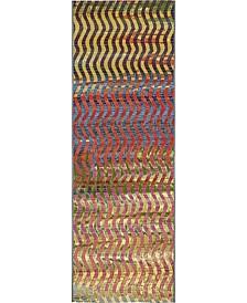 Pashio Pas1 Multi 2' x 6' Runner Area Rug