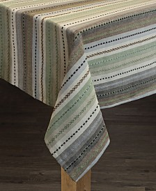 Phoenix Striped Dobby 100% Cotton Textured Tablecloth