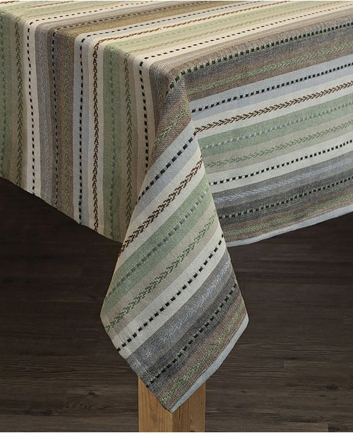 Lintex Phoenix Striped Dobby Cotton Textured Tablecloth
