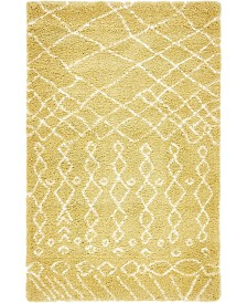 Bridgeport Home Fazil Shag Faz2 Yellow 5' x 8' Area Rug