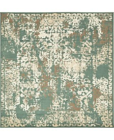 Tabert Tab1 Green 8' x 8' Square Area Rug