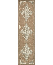 "Bridgeport Home Tabert Tab7 Brown 2' 6"" x 10' Runner Area Rug"