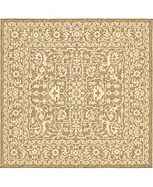 Bridgeport Home Pashio Pas6 Brown 6' x 6' Square Area Rug