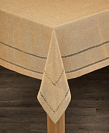 Hemstitch 100% Polyester Tablecloth