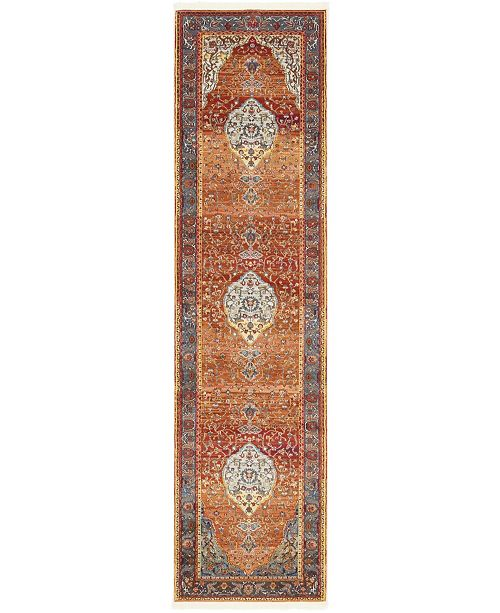"Bridgeport Home Kenna Ken1 Rust Red 2' 7"" x 10' Runner Area Rug"