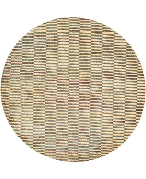 "Bridgeport Home Tempe Tmp5 Beige 8' 2"" x 8' 2"" Round Area Rug"