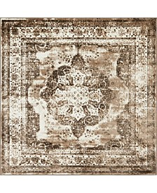 Basha Bas2 Light Brown 8' x 8' Square Area Rug