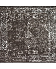 Basha Bas1 Brown 6' x 6' Square Area Rug