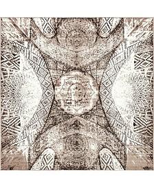 Basha Bas3 Brown 8' x 8' Square Area Rug