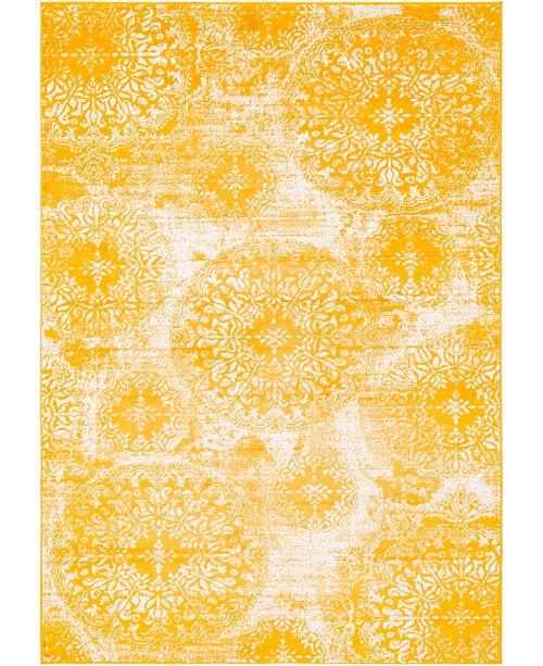 Bridgeport Home Basha Bas7 Yellow 6' x 9' Area Rug