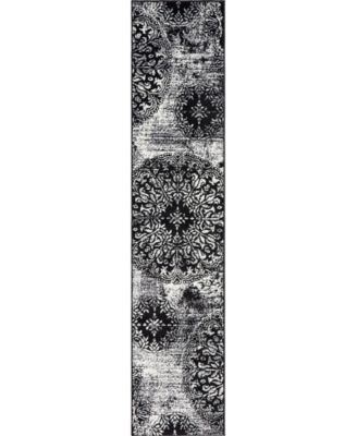 Basha Bas7 Black 6' x 6' Square Area Rug