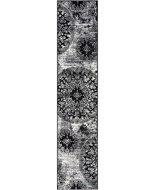"Bridgeport Home Basha Bas7 Black 2' x 9' 10"" Runner Area Rug"