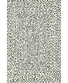 Roari Cotton Braids Rcb1 Gray 6' x 9' Area Rug