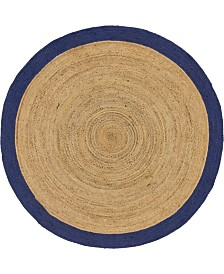 Bridgeport Home Braided Jute A Bja4 Natural 8' x 8' Round Area Rug