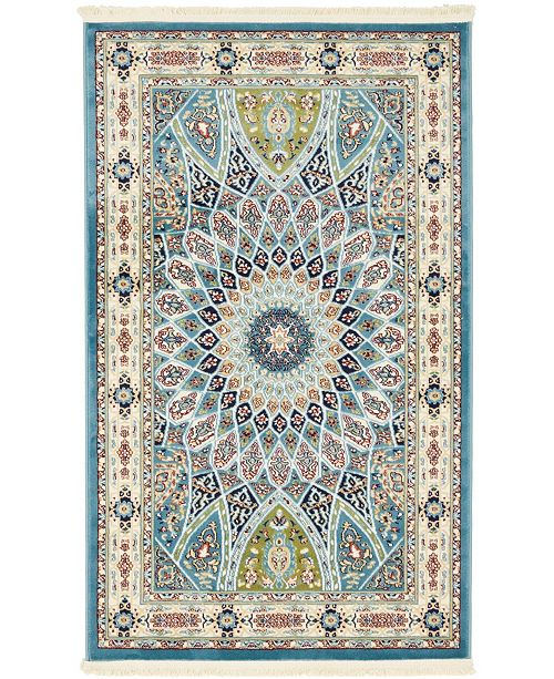 Bridgeport Home Zara Zar9 Blue 3' x 5' Area Rug