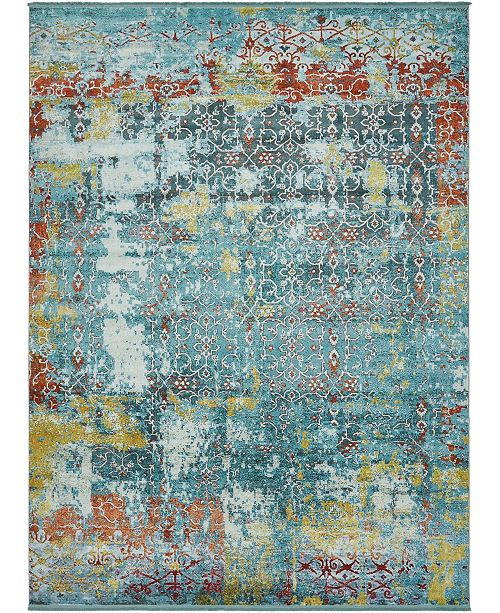 Bridgeport Home Kenna Ken8 Teal 10' x 13' Area Rug