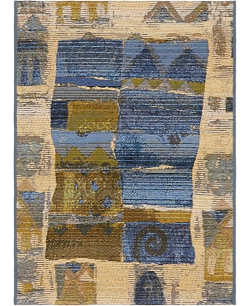 "Bridgeport Home Pashio Pas1 Blue 2' 2"" x 3' Area Rug"
