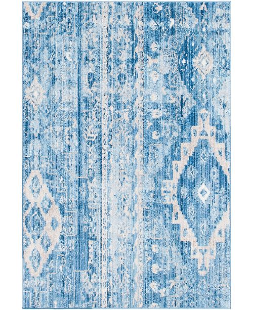 Bridgeport Home Nira Nir2 Blue 4' x 6' Area Rug