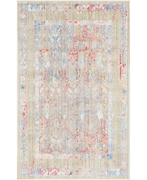 "Bridgeport Home Zilla Zil2 Beige 3' 3"" x 5' 3"" Area Rug"
