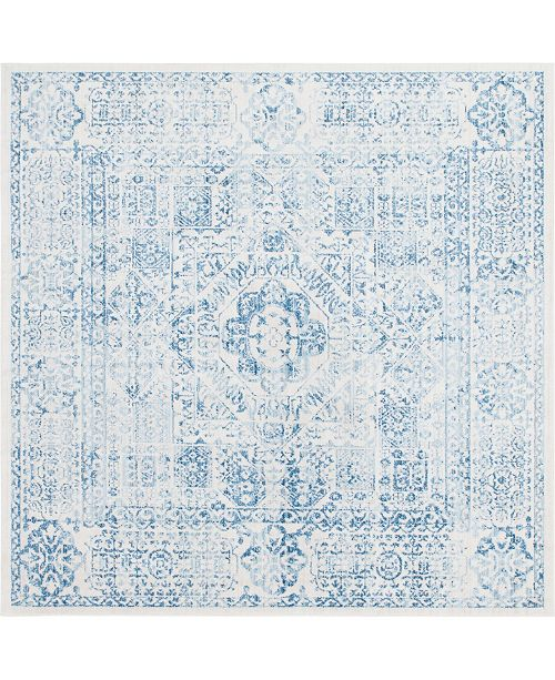 Bridgeport Home Zilla Zil3 Light Blue 8' x 8' Square Area Rug