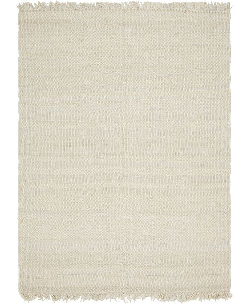Bridgeport Home Stout Jute Stj1 Ivory 9' x 12' Area Rug
