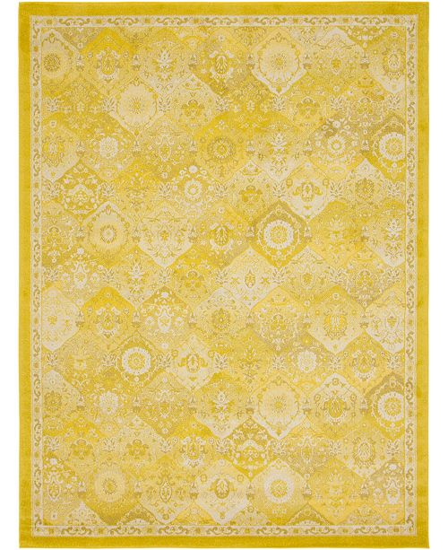 Bridgeport Home Lorem Lor2 Yellow 9' x 12' Area Rug