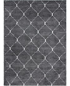 Bridgeport Home Fazil Shag Faz5 Gray 9' x 12' Area Rug
