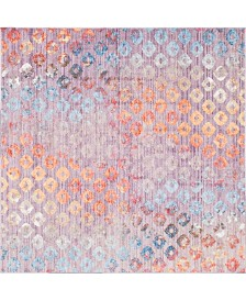Bridgeport Home Prizem Shag Prz2 Lilac 8' x 8' Square Area Rug