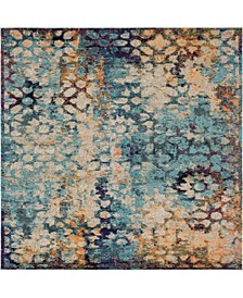Brio Bri1 Blue 8' x 8' Square Area Rug