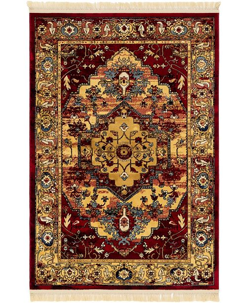 Bridgeport Home Borough Bor3 Red 4' x 6' Area Rug