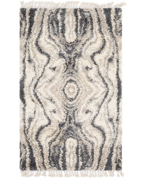 Bridgeport Home Lochcort Shag Loc4 Gray 5' x 8' Area Rug