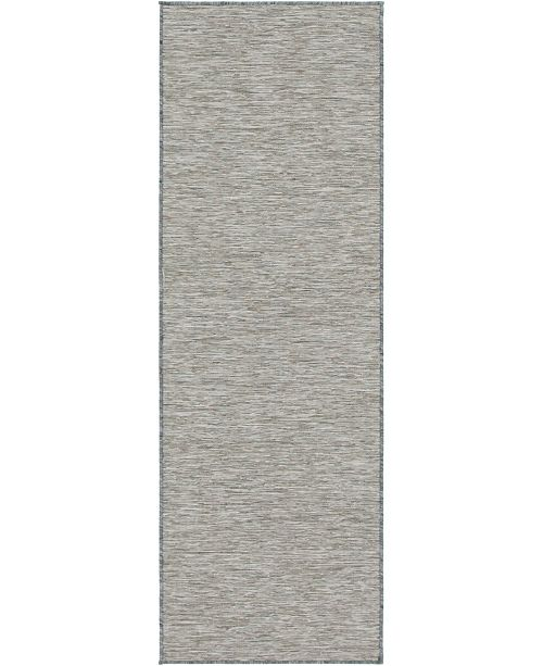 Bridgeport Home Pashio Pas8 Light Gray 2' x 6' Runner Area Rug